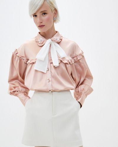 С рукавами розовая блузка с длинным рукавом Sister Jane