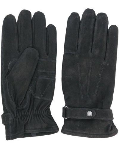 Czarne rękawiczki Barbour
