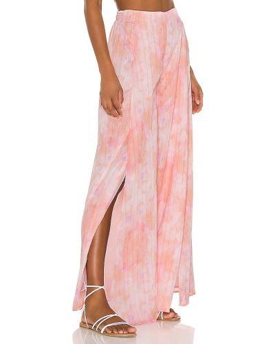 Różowy krawat elegancki Majorelle