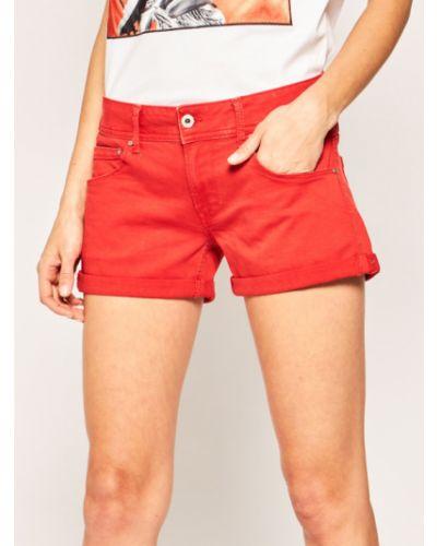 Szorty jeansowe - pomarańczowe Pepe Jeans