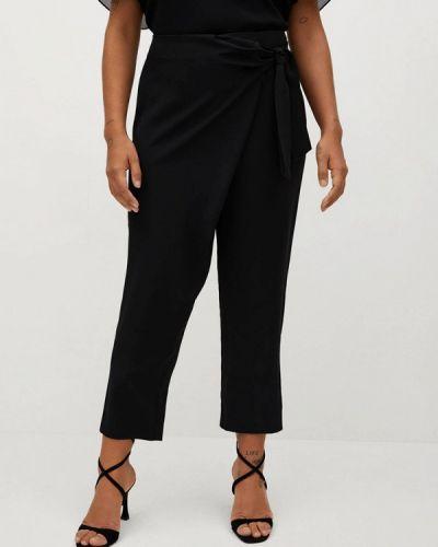 Прямые черные брюки Violeta By Mango