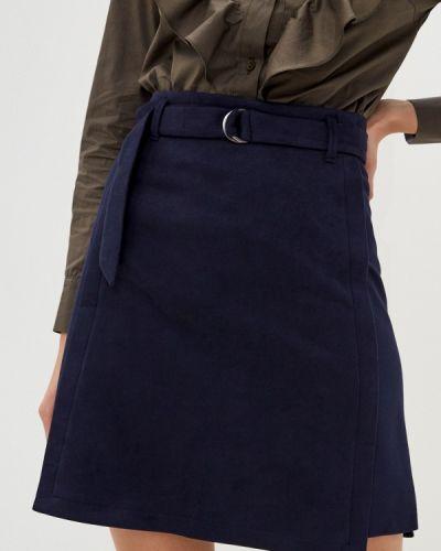 Синяя прямая юбка карандаш Raya