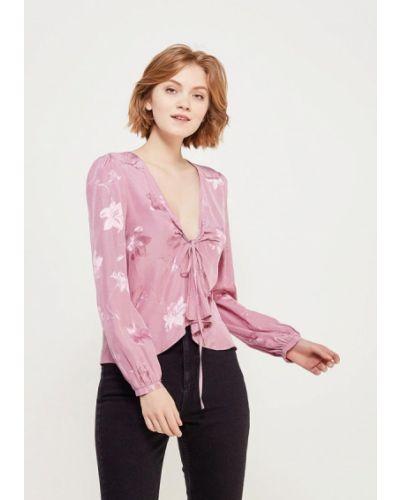 Розовая блузка с длинным рукавом Topshop