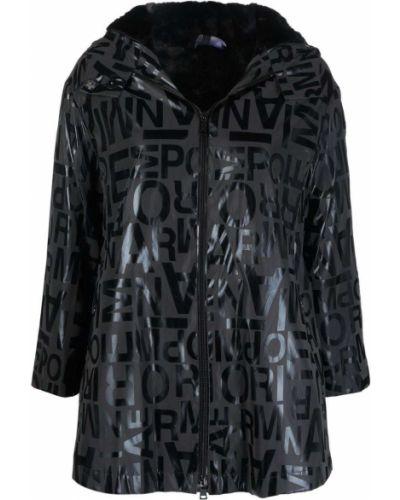Płaszcz przeciwdeszczowy - czarny Emporio Armani
