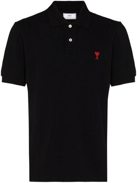 Czarna koszula bawełniana Ami