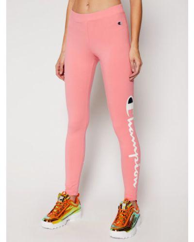 Różowe legginsy sportowe oversize Champion