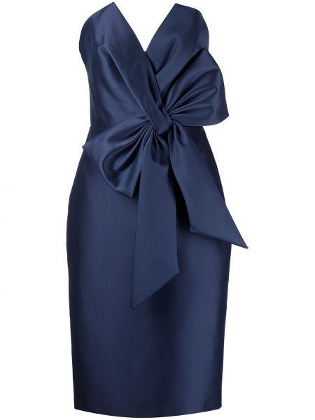 Синее платье оверсайз Badgley Mischka