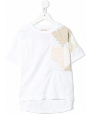Белая футболка с карманами круглая с круглым вырезом Go To Hollywood