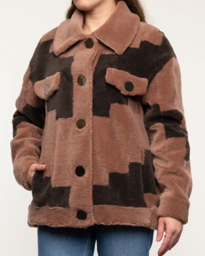 Шерстяное черное пальто с воротником Alcato