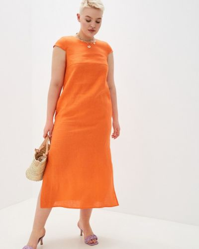 Повседневное оранжевое платье Gabriela
