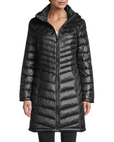 Długi płaszcz z kapturem z długimi rękawami z nylonu Calvin Klein