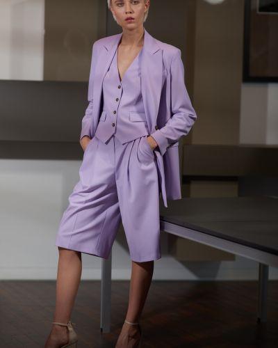 Фиолетовые бермуды из вискозы Vassa&co