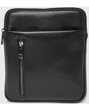Черная кожаная сумка на молнии из искусственной кожи с карманами Ostin