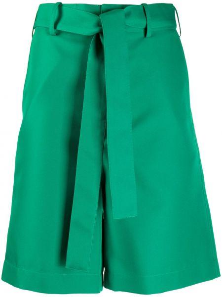 Зеленые хлопковые шорты с карманами Plan C