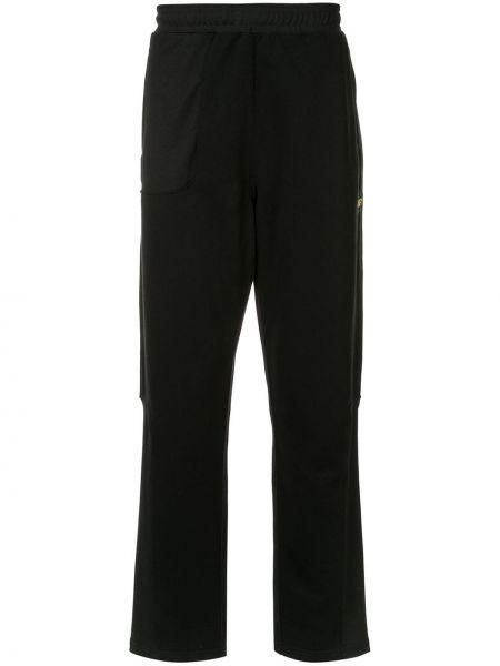 Черные прямые брюки с поясом новогодние Affix