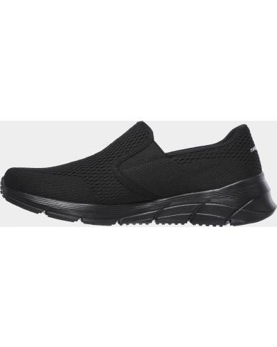 Слипоны сетчатые - черные Skechers