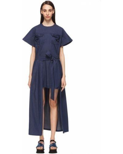Хлопковое платье - синее Alena Akhmadullina