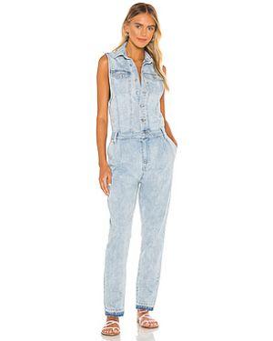 Синий джинсовый комбинезон на пуговицах свободного кроя Free People