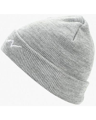 Серая шапка осенняя Pieces