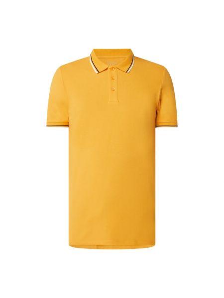 Żółty t-shirt w paski bawełniany Edc By Esprit