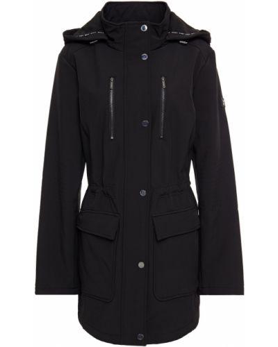 Флисовая черная куртка с капюшоном Dkny