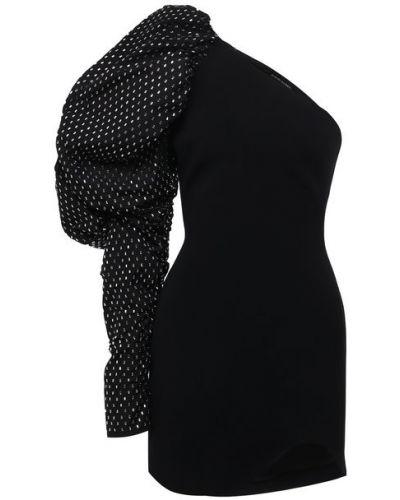 Шелковое платье - черное David Koma