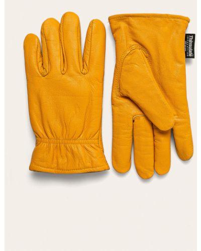 Желтые кожаные перчатки Dickies