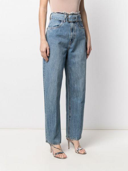 Синие с завышенной талией джинсы на молнии Alexander Wang