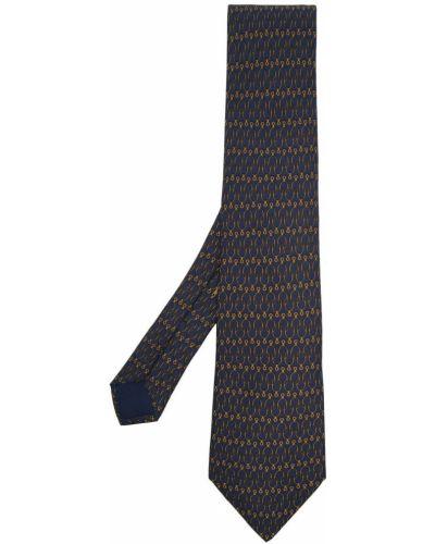 Żółty krawat z jedwabiu Hermes