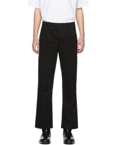 Spodnie o prostym kroju z kieszeniami z paskiem Acne Studios