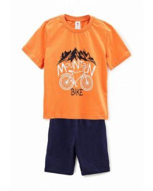 Костюмный оранжевый спортивный костюм Roza