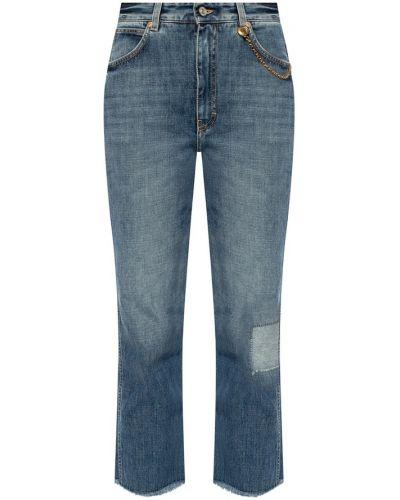 Mom jeans bawełniane - niebieskie Givenchy