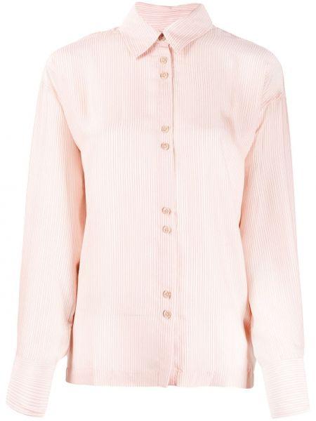 Свободная блузка свободного кроя с воротником Ba&sh