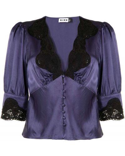 Fioletowa koszula bawełniana Rixo