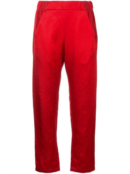 Красные брюки с высокой посадкой Zero + Maria Cornejo