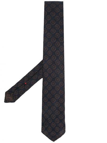 Синий галстук жаккардовый Dell'oglio