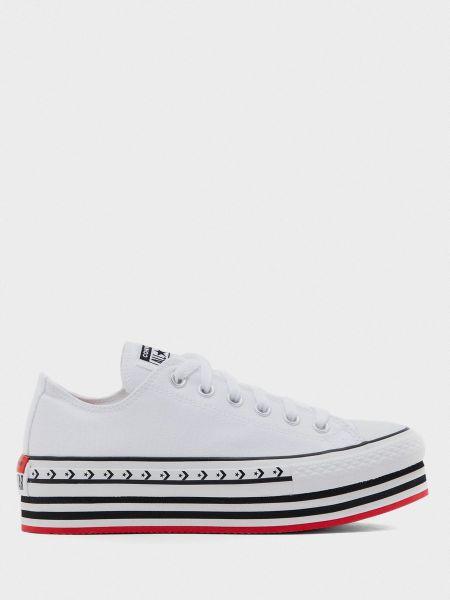 Текстильные кеды - белые Converse