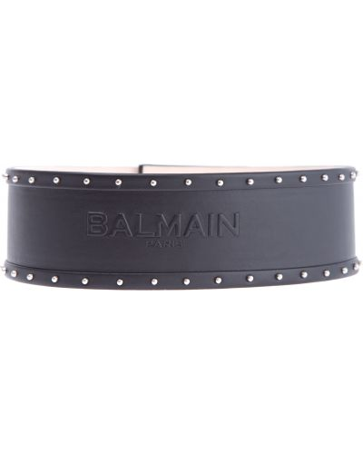 Ремень с заклепками в полоску Balmain
