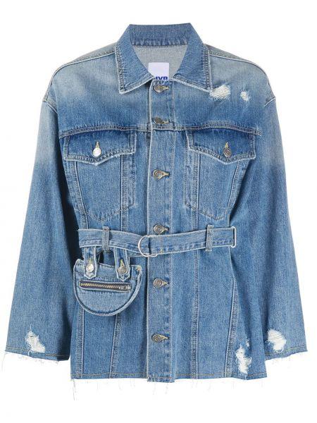 Хлопковая ватная синяя джинсовая куртка Sjyp