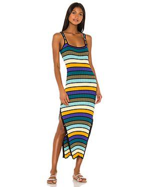 Платье миди в полоску в рубчик Solid & Striped