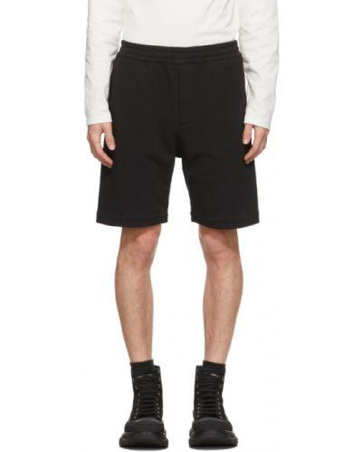 Махровые черные шорты с карманами Alexander Mcqueen