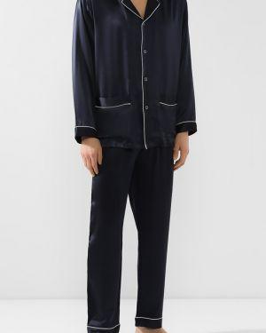 Пижама шелковая темно-синий Zimmerli