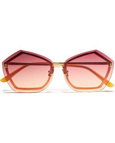 Złote różowe okulary Self-portrait