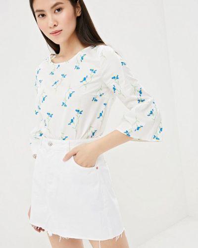 Белая блузка с длинным рукавом Zarina