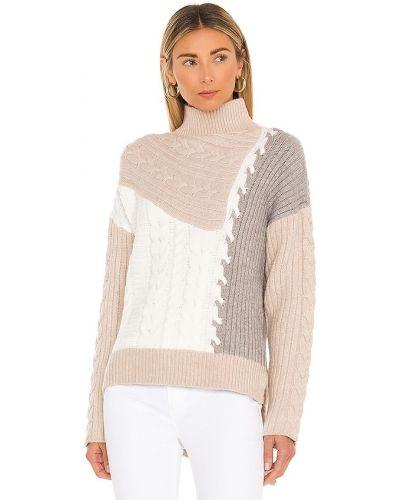 Асимметричный акриловый белый свитер Line & Dot