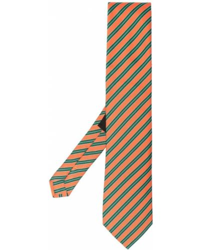 Zielony szalik z jedwabiu z printem Etro