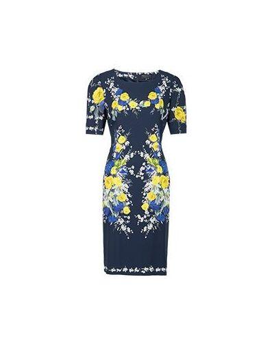 Летнее платье деловое синее Elisa Fanti