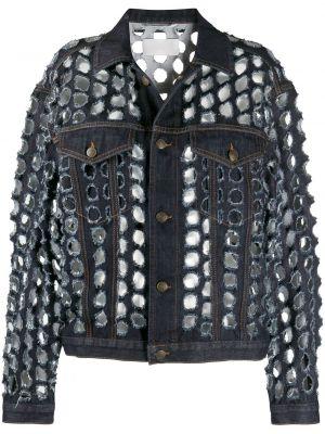 Классическая синяя джинсовая куртка с воротником с карманами Maison Margiela