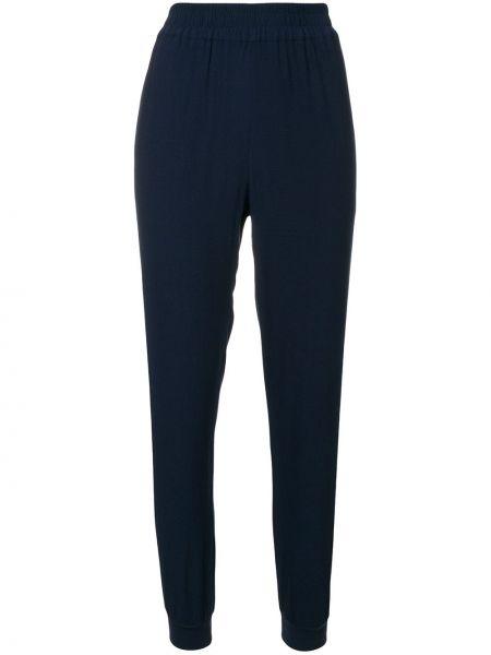 Синие зауженные спортивные брюки с манжетами из вискозы Zoe Karssen