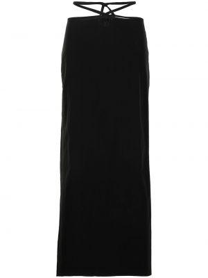 Черная нейлоновая юбка макси с завышенной талией Christopher Esber